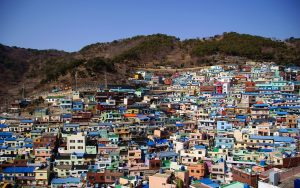Colorful shanty town named Gamcheon, in Busan, South Korea