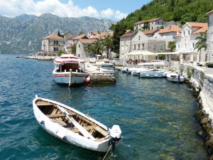 Boats in the Old Town of Kotor, Montenegro