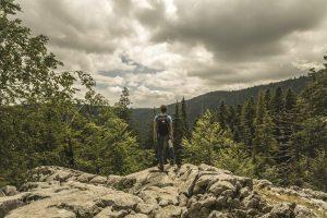 A man hiking in Montenegro