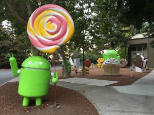 Android Lawn Statues at the Google Headquarters in California
