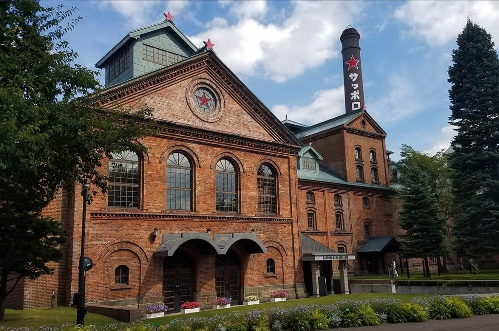 A japanese brewery building